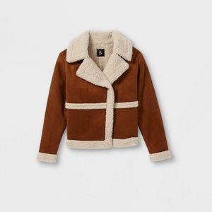 Girls Sherpa Motto Jacket by Art Class-S(6/6x)